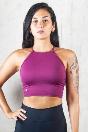 CROPPED STRAPPY LIGHT  BORDEAUX